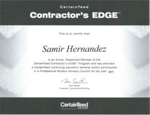 CertaintTeed Contractor's Edge