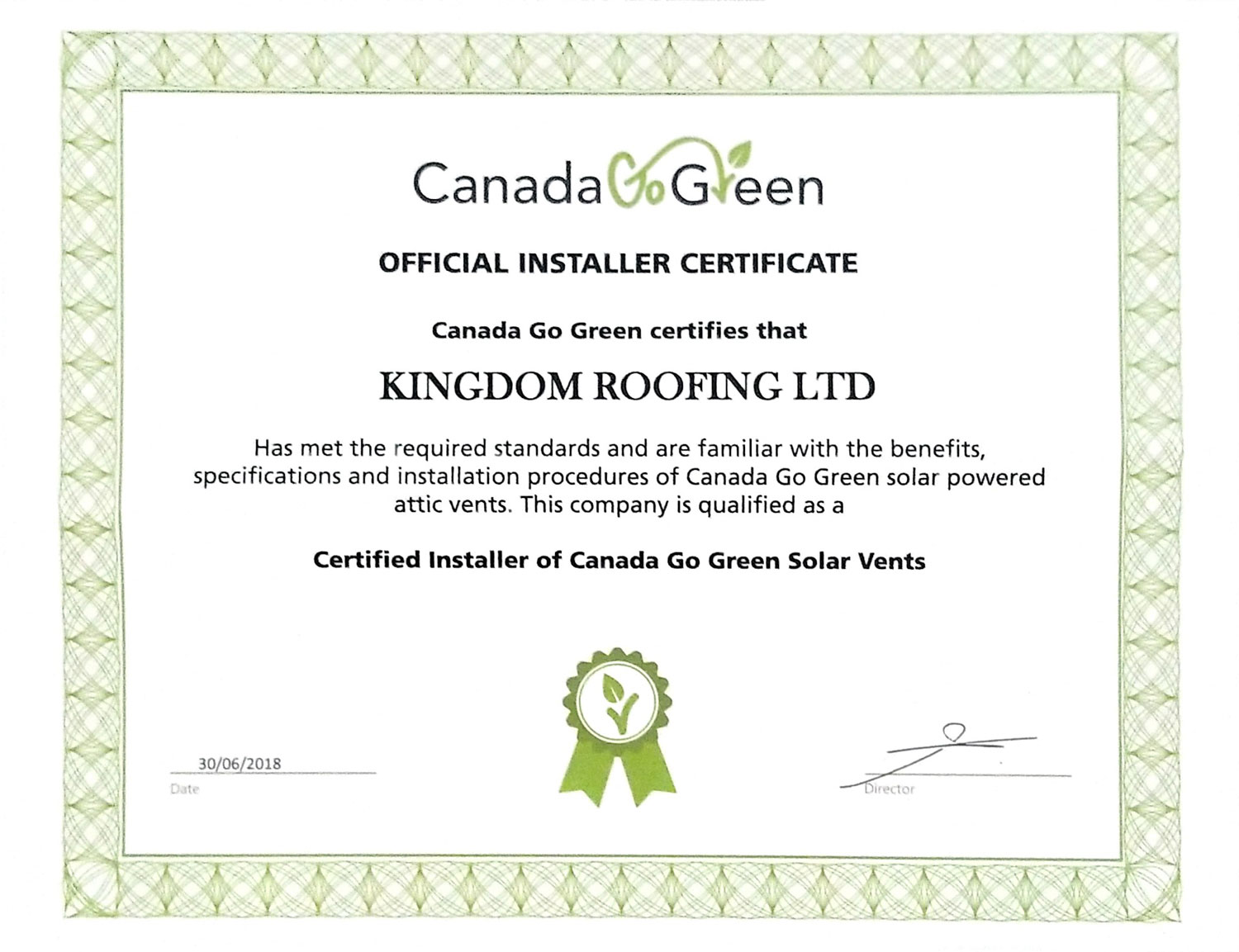 Services Kingdom Roofing Limited