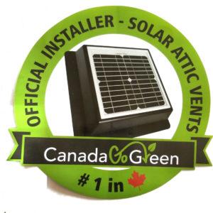 Official Installer Solar Attic Vents  – Canada Go Green