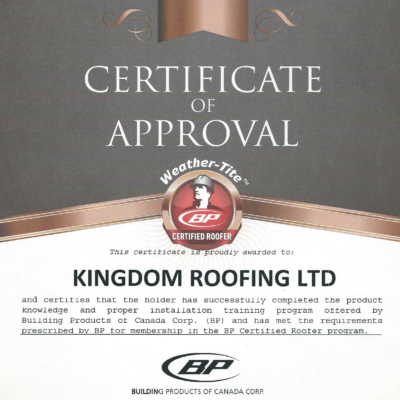 Certificate of Aproval