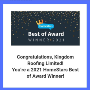 Kingdom Roofing Awarded 2021
